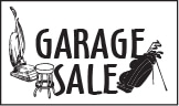 Click here for Garage Sale Info